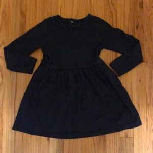 Primary long sleeve cotton dress with pockets